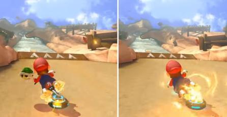 Comparativa gráfica de <em>Mario Kart 8</em> entre Wii U y Switch