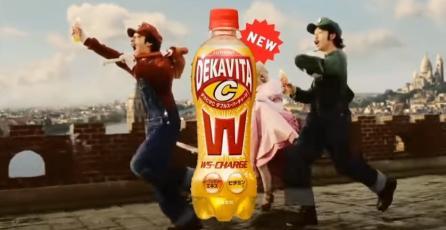 Los hermanos Mario ahora promocionan bebidas energéticas en Japón