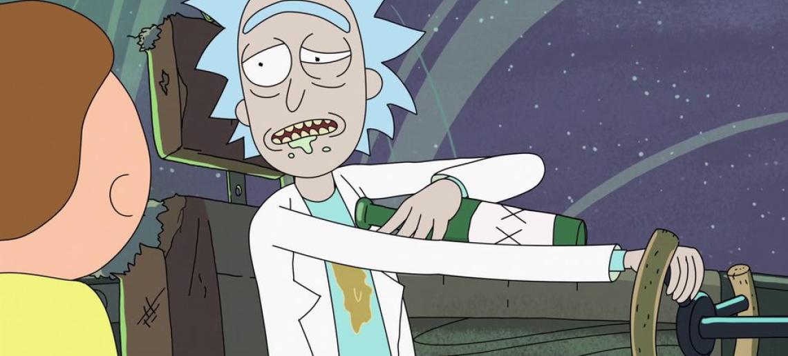 Resultado de imagen para Rick y Morty ebrio