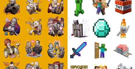 Stickers de <em>The Witcher</em> y <em>Minecraft</em> llegan hoy a iOS