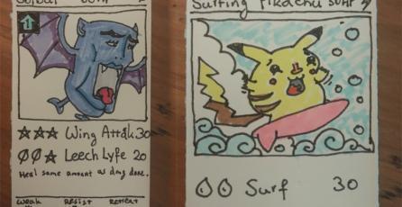 Ante la pobreza un grupo de amigos decidieron dibujar sus propias cartas Pokémon