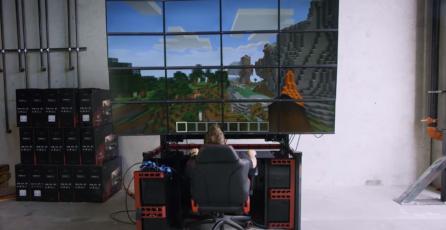 Asi se ven varios videojuegos corriendo en una pantalla de 16 monitores