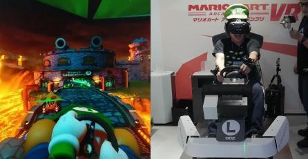 Comparten nuevo gameplay del arcade de realidad virtual de <em>Mario Kart</em>