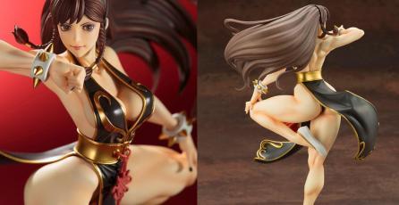 Mira esta impresionante figura de Chun-Li en su traje V