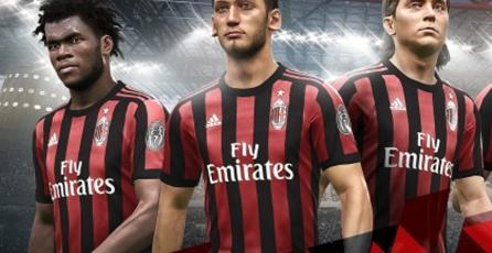 <em>PES 2018</em> recreará fielmente el estilo de los jugadores del AC Milan