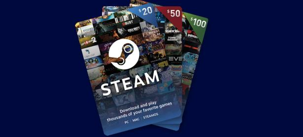 Valve lanza Gift Cards digitales para utilizar en Steam
