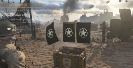 Cajas de loot de <em>Call of Duty: WWII</em> caen del cielo en la playa de Normandía
