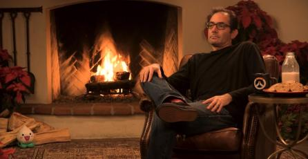 30 mil personas están viendo a Jeff Kaplan en vivo en Twitch con su tronco de navidad
