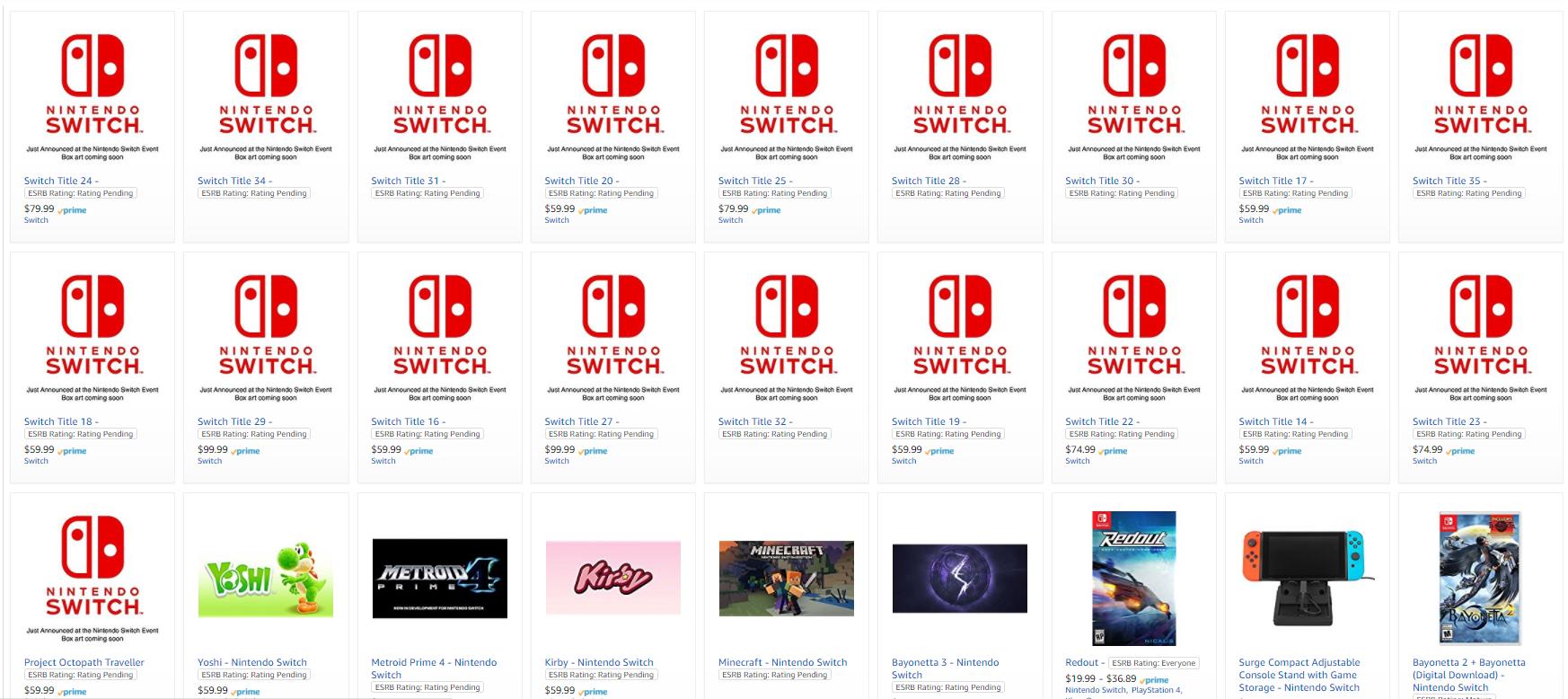 Aparecen 18 Misteriosos Titulos Para Switch En Una Tienda Online