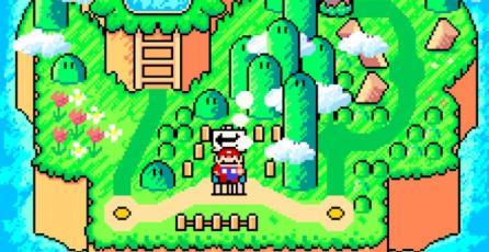 Así luciría <em>Super Mario World</em> en el estilo de arte de <em>Yoshi's Island</em>