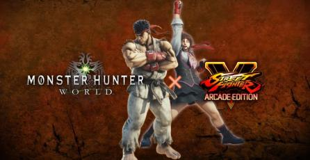 Personajes de <em>Street Fighter</em> llegarán a <em>Monster Hunter: World</em>