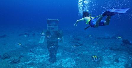 Microsoft construye arrecifes artificiales de Minecraft en el mar de México