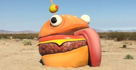 Hamburguesa de <em>Fortnite</em> aparece en un desierto de California