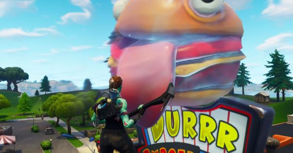 Fortnite Burger Appears In A California Desert The design for the durrr burger has been used as a piece of viral marketing for the game as well as. fortnite burger appears in a california