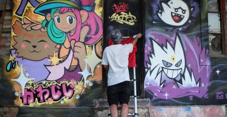 Grafiteros chilenos llenan de color las calles con Pokémon, anime y videojuegos