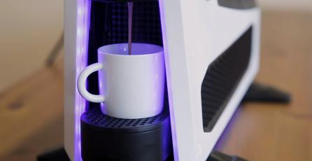 Crean modelo de PC que lleva una cafetera incorporada