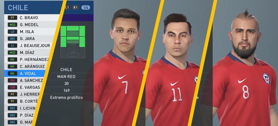 Así luce la Selección Chilena y Colo-Colo en PES 2019 - Tarreo