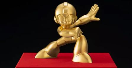 Demuestra que eres el mayor fan de<em> Mega Man</em> con esta estatua de oro sólido