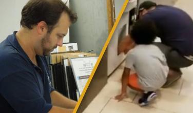 Padre que obligo a sus hijos robar una Nintendo Switch en una máquina fue arrestado