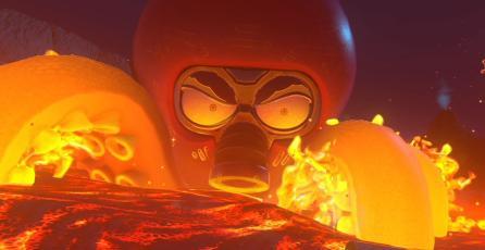 Te enfrentarás a enormes jefes en <em>Astro Bot Rescue Mission</em>
