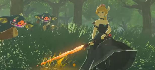 Un Mod de Breath of the Wild reemplaza a Link por Bowsette