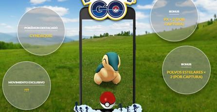 Cyndaquil será la estrella del próximo día de la comunidad de<em> Pokémon GO</em>