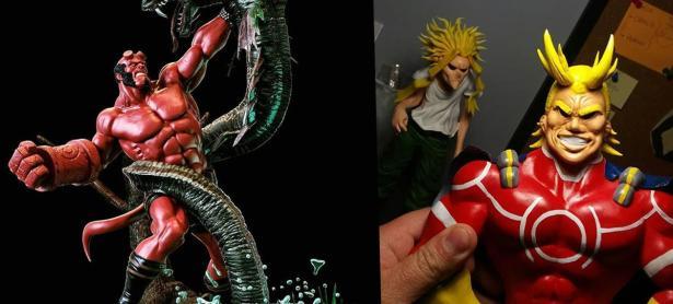 Escultores chilenos le dan vida a personajes de anime y superhéroes
