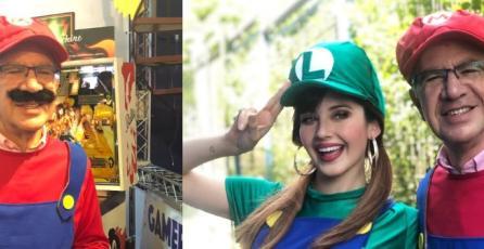 Lavín asistió a la GamerTón con cosplay de Mario