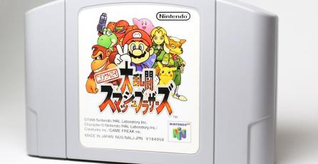 Mira al equipo de Game Freak compitiendo en <em>Super Smash Bros.</em> de N64