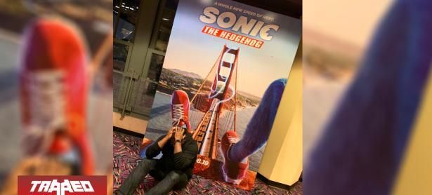 Perturbador póster de Sonic The Hedgehog es real y comienza a aparecer en los cines