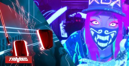 El hit de K-Pop de League of Legends llegó a Beat Saber, un juego en VR