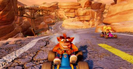 Así se ve Dingo Canyon en <em>Crash Team Racing Nitro-Fueled</em>
