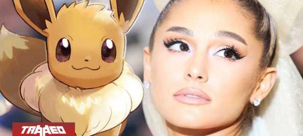 Ariana Grande se declara fanática de Pokémon: Let's Go con tatuaje de Eevee