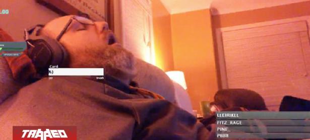 Streamer multiplicó sus espectadores tras quedarse dormido en vivo