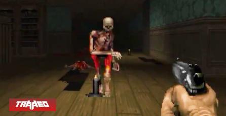Así hubiera sido Resident Evil 2 de ser desarrollado como DOOM en un mod