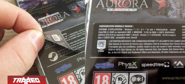 Copias físicas de Metro Exodus tienen un sticker de Epic Games por sobre el logo de Steam