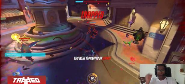 Streamer sufre ataque de ira por morir en Ovewatch y golpea todo a su alcance