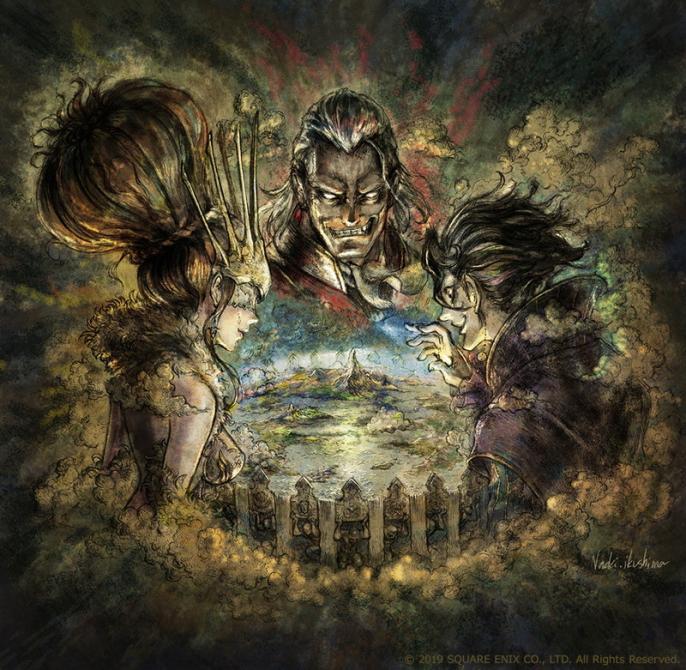 Mira el arte de <em>Octopath Traveler Tairiku no Hasha</em>