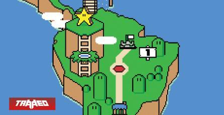 Así sería el Mapamundi diseñado al puro estilo de Super Mario World