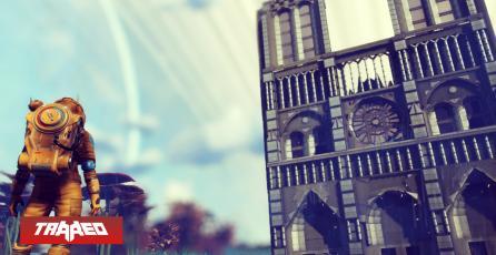 Fanático de No Man's Sky crea replica exacta de la catedral Notre Dame en el juego