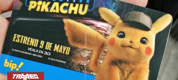 Metro de Santiago estrena tarjeta BIP! temática de Detective Pikachu