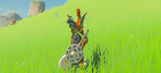 Jugador de <em>Zelda: Breath of the Wild</em> utiliza cuccos para pelear con un Molduga