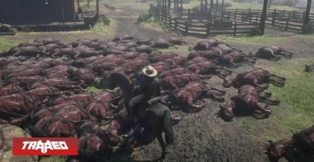 Error en Red Dead Online está creando masacre de caballos calcinados