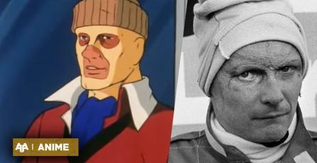 Nos dejó Niki Lauda, destacado piloto en la vida real y el anime