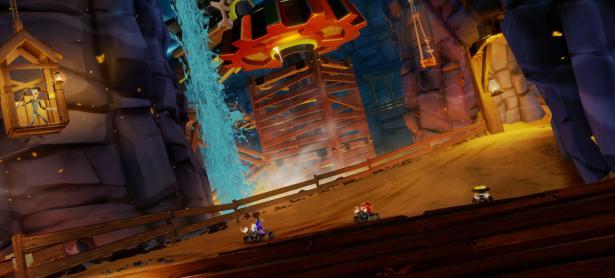Dragon Mines luce increíble en <em>Crash Team Racing Nitro-Fueled</em>