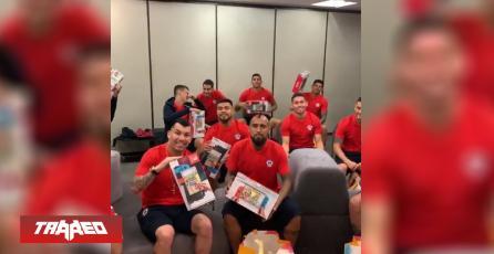 Selección chilena de fútbol recibió Nintendo Switch por el Día del Padre