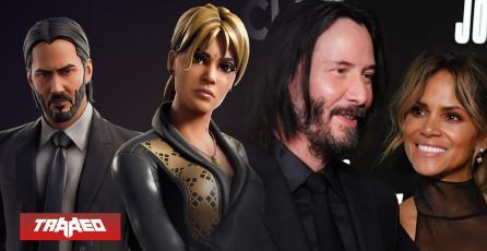 Halle Berry se une a Keanu Reeves en Fortnite tras éxito de John Wick 3