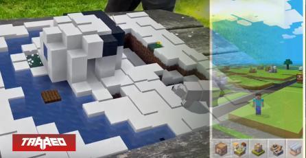 """Así se vería funcionando el """"Pokémon GO"""" de Minecraft en la vida real"""