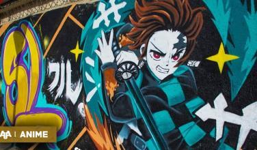 Artistas chilenos plasman mural de Demon Slayer en calles del país
