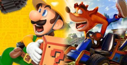 <em>Super Mario Maker 2</em> o <em>CTR: Nitro Fueled, </em>¿cuál juego vendió más en junio en EUA?